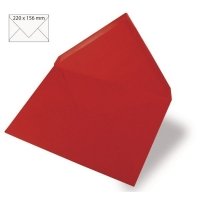 Kuvert A5 220x156mm 90g klassikrot (Restbestand)
