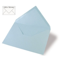 Kuvert A5 220x156mm 90g babyblau