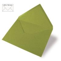 Kuvert A5 220x156mm 90g olive (Restbestand)