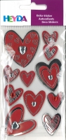 Heyda Sticker Metallic Hearts