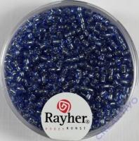 Rocailles 2 mm ø mit Silbereinzug hellblau