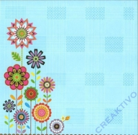 Premium Glitter Scrapbook paper Blossom 171