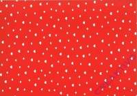 Vario-Karton 300g/qm 50x70cm weiß/rot Herzchen (Restbestand)
