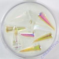 Spike Beads kristall AB 7x17mm 8 Stück