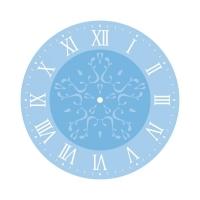 Rayher Schablonenset für Uhren - römisch