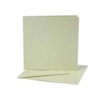 Perlmuttkarten und -umschläge mintgrün 10 Stück (Restbestand)