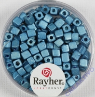 Metallic-Würfel 3,4x3,4mm azurblau
