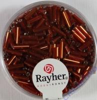 Glasstifte, 7/2 mm, mit Silbereinzug rot