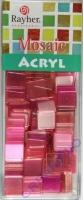 Acryl-Mosaik, 1x1 cm, transparent, rosé