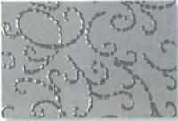 Noblesse Fotokarton mit Glanzlack-Ornamenten 50x70cm grau (Restbestand)