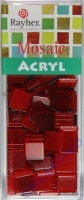 Acryl-Mosaik, 1x1 cm, transparent, klassikrot