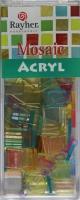 Acryl-Mosaik, 1x1 cm, transparent, pastell