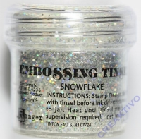 Ranger Embossing Puder Embossing tinsel snowflake 23g