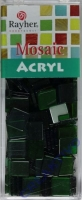 Acryl-Mosaik, 1x1 cm, transparent, jade