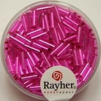 Glasstifte, 7/2 mm, mit Silbereinzug pink