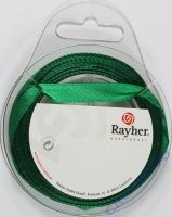 Rayher Satinband 10mm 10m dunkelgrün