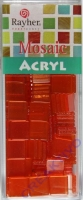 Acryl-Mosaik, 1x1 cm, transparent, orange