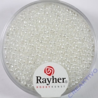 Rocailles verwachst 2mm weiß