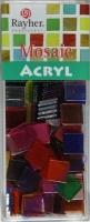 Acryl-Mosaik, 1x1 cm, transparent, bunt