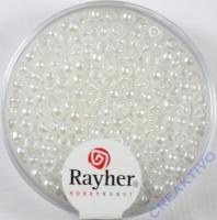 Rocailles verwachst 2,6mm weiß