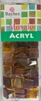 Acryl-Mosaik, 1x1 cm, transparent, kaffeecreme