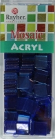 Acryl-Mosaik, 1x1 cm, transparent, azurblau
