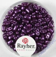 Doppelloch-Rocailles verwachst 3x5mm violett