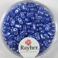 Doppelloch-Rocailles verwachst 3x5mm bayrisch blau