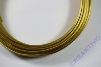 Alu Draht 2mm gold Meterware