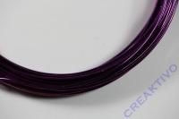 Alu Draht 2mm lila Meterware