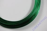 Alu Draht 2mm grün Meterware