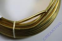 Alu Draht 5mm gold Meterware