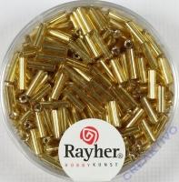 Glasstifte, 7/2 mm, mit Silbereinzug gold