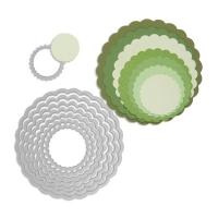 Rayher Sizzix Framelits Schablonenset - Kreise mit Zierrand