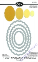 Rayher Sizzix Framelits Schablonenset - Ovale gezahnt