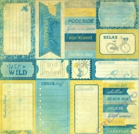 Scrapbooking Papier Summer Enhancements (Restbestand)