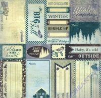 Scrapbooking Papier Winter Enhancements (Restbestand)
