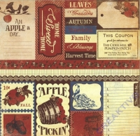 Scrapbooking Papier Autumn Enhancements (Restbestand)