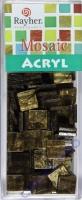 Acryl-Mosaik, 1x1 cm, marmoriert, dunkelbraun