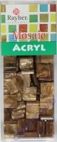 Acryl-Mosaik, 1x1 cm, marmoriert, champagner gold