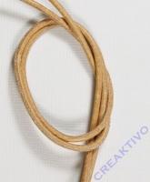 Rundriemen Lederband aus Rindleder 100cm 2mm natur