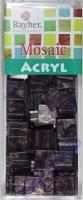 Acryl-Mosaik, 1x1 cm, marmoriert, purple velvet