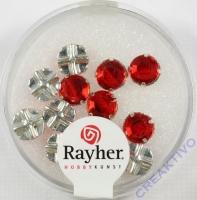 Glas-Strasssteine rubin 12St 6,4mm