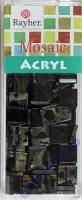 Acryl-Mosaik, 1x1 cm, marmoriert, schwarz