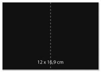 Karte B6 232x168mm 220g schwarz