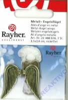 Metall-Engelsflügel 3,1x3,4cm gold