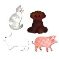 Sizzix Bigz Die - Cat, Dog, Pig & Rabbit