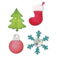 Sizzix Bigz Die - Christmas Tree, Ornament, Snow flake & Stocking