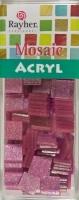 Acryl-Mosaik, 1x1 cm, Glitter, rosé