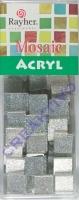 Acryl-Mosaik, 1x1 cm, Glitter, silver shadow